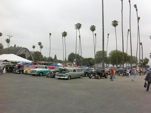 Our Road Tour group (that's the Welder Series coupe on the corner). The tent was provided by Street Rodder Magazine - nice touch and much appreciated later when the sun burned through.
