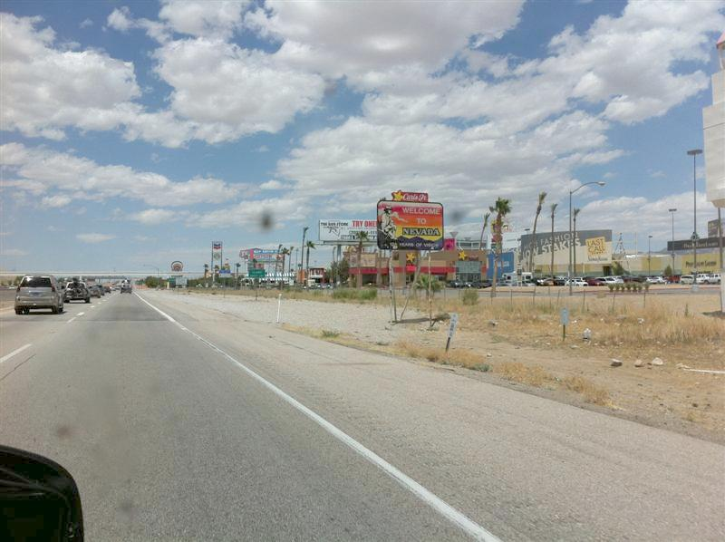 We were on our way to Hoover Dam but as you near Las Vegas you get into other towns cashing in on the gambling fever. Sure wasn't as pretty as the scenery we've seen on the rest of the trip. The bugs on the windshield probably didn't add to the clutter.