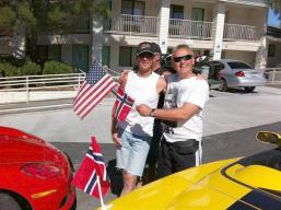 Two of the Norwegian Vette Club members who were staying at our same hotel in Kingman AZ.