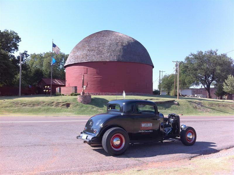 """Everyone also mentioned seeing the """"Round Barn"""" in Arcadia. Built in 1898, it originally served as a home for livestock and also as a place where dances were held for the local townspeople. As traffic slowly declined down Old Route 66, the town of Arcadia declined with it and after suffering decades of neglect, in 1988 the barn's immense 60' diameter roof finally collapsed. The cost of repair: a staggering $165,000 dollars. http://www.arcadiaroundbarn.org/history.htm"""