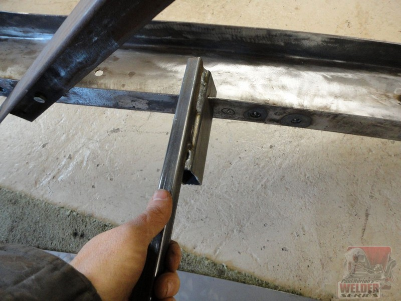 A simple tool to straighten the flanges on a set of frame rails.