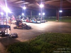 """It's hard to tell, but Tim Strange is driving the kart. A kid couldn't believe he saw TIM STRANGE, host of Search & Restore, at the show, and Tim had told him we were going go karting that night. He didn't stop asking his grandparents if he could go too until they brought him. He wouldn't stop chanting """"TIMTIMTIMTIMTIMTIM""""! So Tim took him for a few rides around the track, making memories for years to come, I'm sure."""