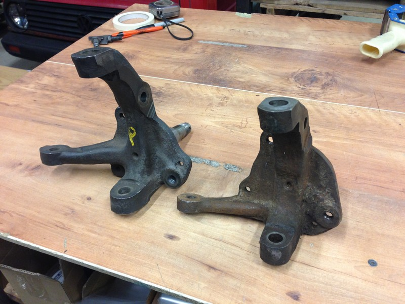 Early Pinto Vs  Mustang Ii Spindle Differences