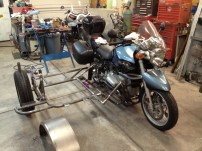Welder Series sway bar installed on a motorcycle side car.