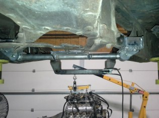 Drop-out transmission mount using Welder Series bits and pieces.
