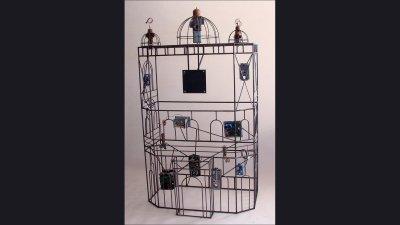 Johnson Controls - Tajmahal Sculpture to hold large monitor - 6ft tall