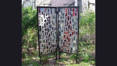 Frame for Art Glass 5 ft tall panels