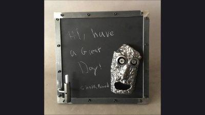 Chalk Chalkboard w/ SculptureBoard w/ Sculpture
