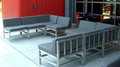 Harley Museum Aluminum Patio Seating
