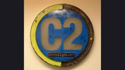C2 Sign - 30 in diameter, lighted