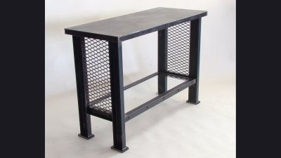 30 in Tall Table w/ Glass Shelf