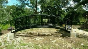 Custom Metal Bridge Fabricated at Welding Shop in Austin, Texas