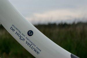 De witte Hoge Veluwe fiets