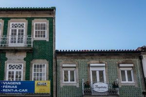 Traditional Portugese house with azulejos
