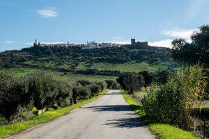 Portugese stad bovenop een heuvel, echte Portugese schoonheid