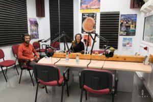 Radio interview in the studio