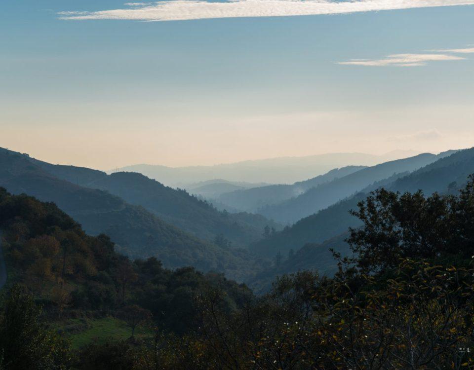 Landscape in Galicia in Spain