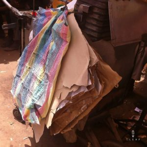 Recycled plastic bags in Gambia