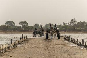 People on donkey cart in Senegal