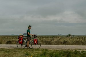 Cyclists in Uruguay