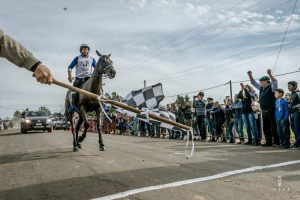 Finish of a endurance horse race in Uruguay