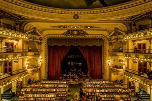 Balcony view inside el Ateneo book store in Buenos Aires