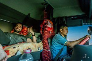 Liften naar Buenos Aires met een vrachtwagen