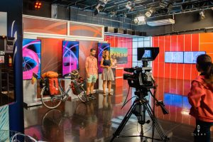 television interview world trip on Bolivian television
