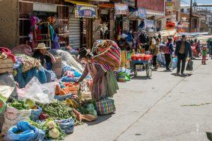 street market in Potosi