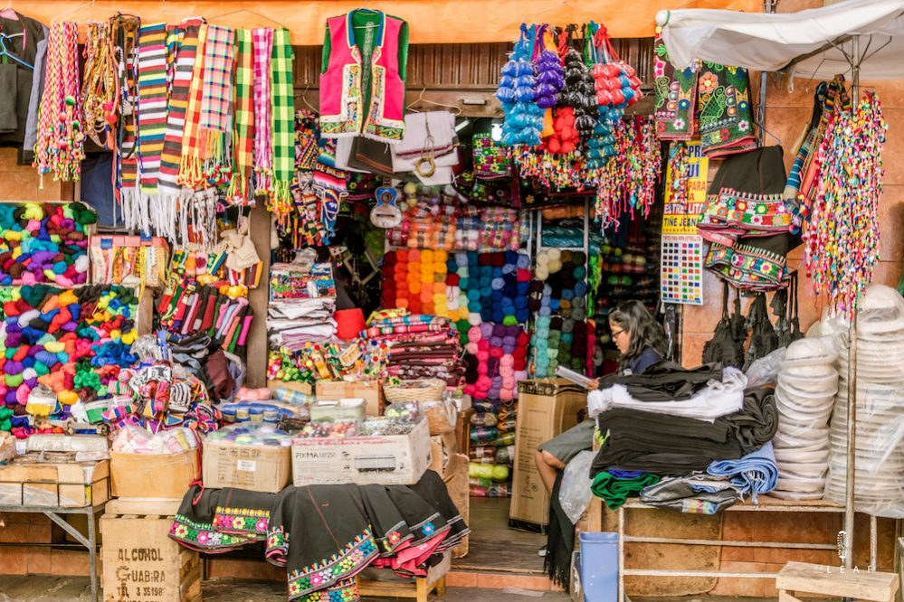 colourful market in Santa Cruz in Bolivia