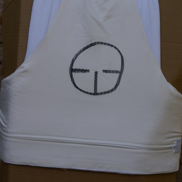 The back of the vest was used to test the .357 magnum; 158 grain Semi-jacketed soft points (SJSP).