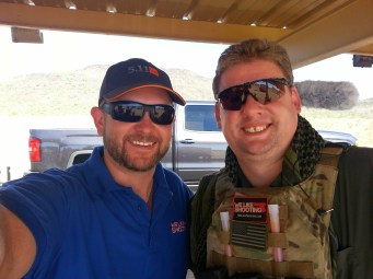 Me and Sam Cadle from the Firearm blog