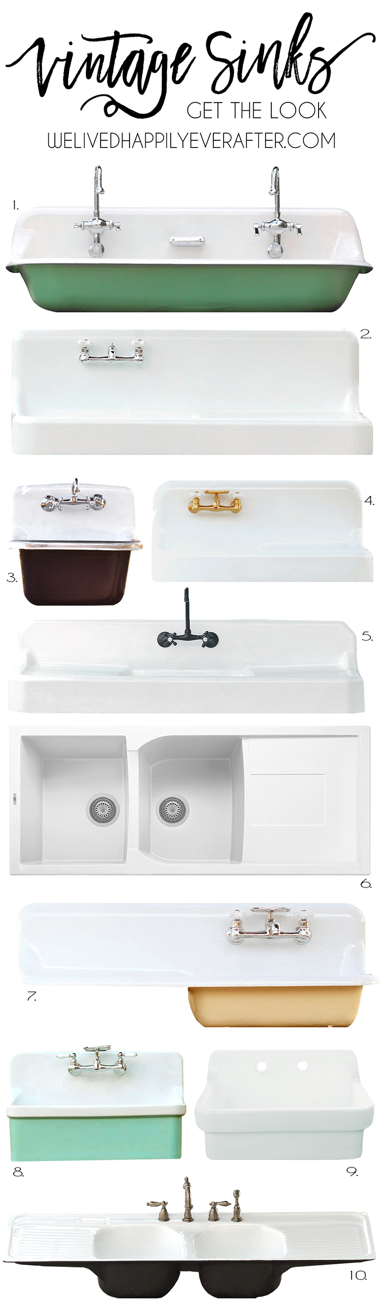 vintage looking farmhouse sinks for