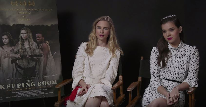 Hailee Steinfeld and Brit Marling Interview for The Keeping Room