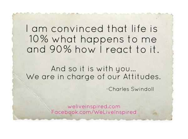 Attitude Quote by Chuck Swindoll