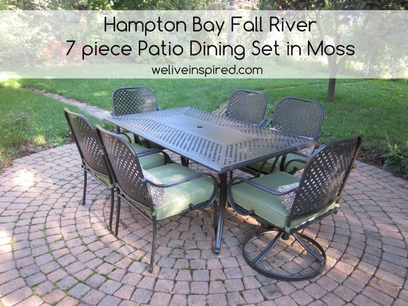 Hampton Bay Fall River 7 Piece Patio Dining Set
