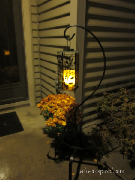 outdoor Fall candle lantern