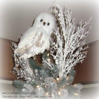 Classy Christmas Decor-My Snowy Owl Tree Topper