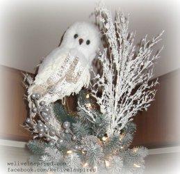 snowy owl tree topper