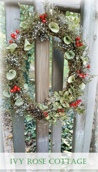 oval Christmas wreath
