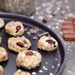 Fitness Cookies für eine gesunde Ernährung ohne raffinierten Zucker