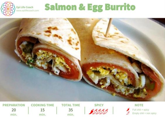 Salmon _ Egg Burrito page1 - EPILIFE RECIPES