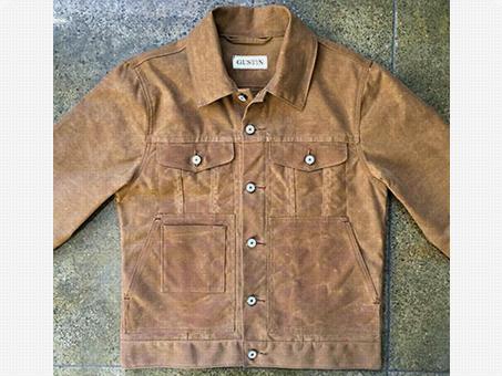Gustin Waxed Trucker Jacket