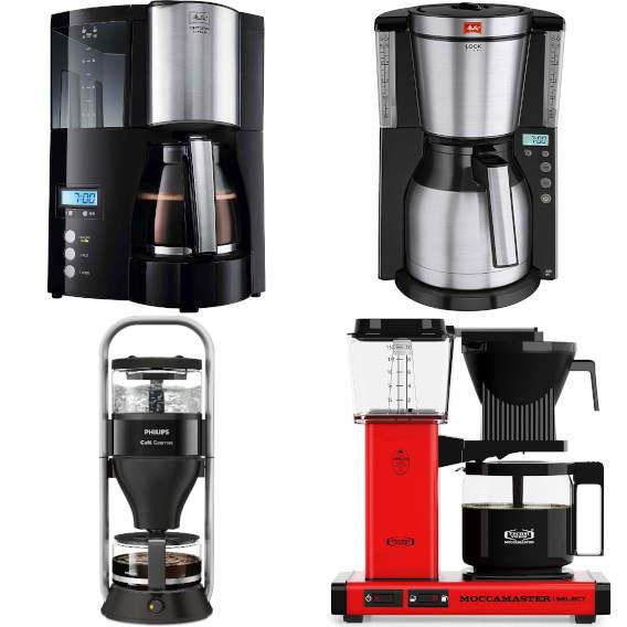 (sehr) gut in Tests: Filterkaffeemaschinen mit Glaskanne und Thermoskanne