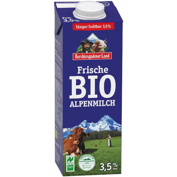 sehr gut im Test von Öko-Test 04/2015: Berchtesgadener Land Bio-Alpenmilch 3,5 % Fett Naturland Fair (Bio)