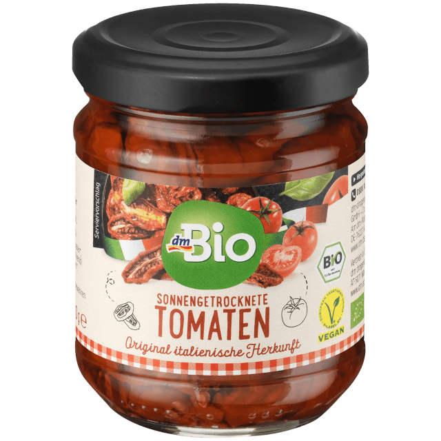 gut im Test von Stiftung Warentest: Sonnengetrocknete Tomaten (dm) (Bio)