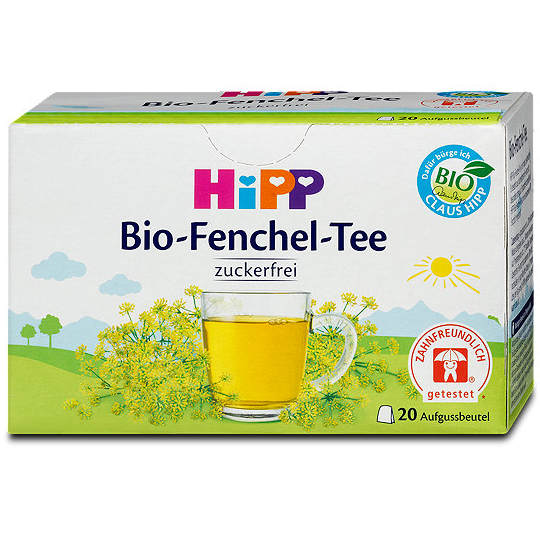 Testsieger und sehr gut in Tests von Stiftung Warentest 4/2017 und Öko-Test 5/2017: Hipp Bio-Fenchel-Tee (Bio)