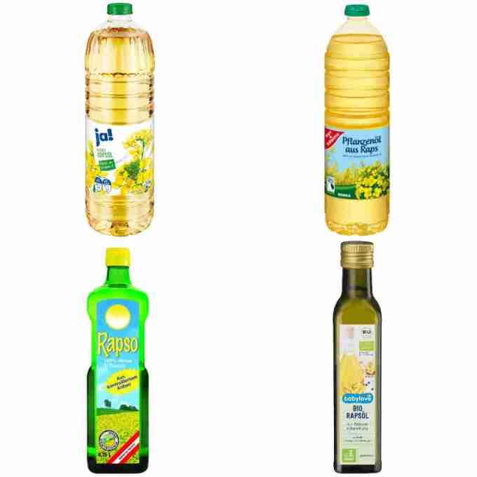 (sehr) gut in Tests von Stiftung Warentest 11/2018 und Öko-Test 11/2020: Rapsöl raffiniert