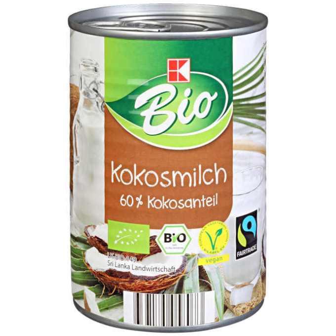 sehr gut im Test von Öko-Test 02/2020: K-Bio Kokosmilch (Kaufland) (Bio)