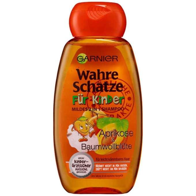Testsieger und gut im Test von Stiftung Warentest 11/2020: Garnier Wahre Schätze Shampoo Für Kinder - Aprikose & Baumwollblüte